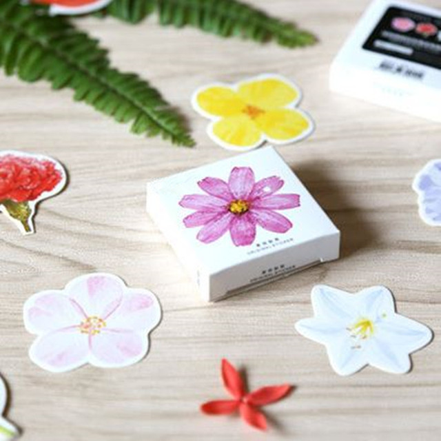 Coloffice 45pcsbox creative flower stickers seal paste diy diary coloffice 45pcsbox creative flower stickers seal paste diy diary scrapbooking memo pad notes notebook mightylinksfo