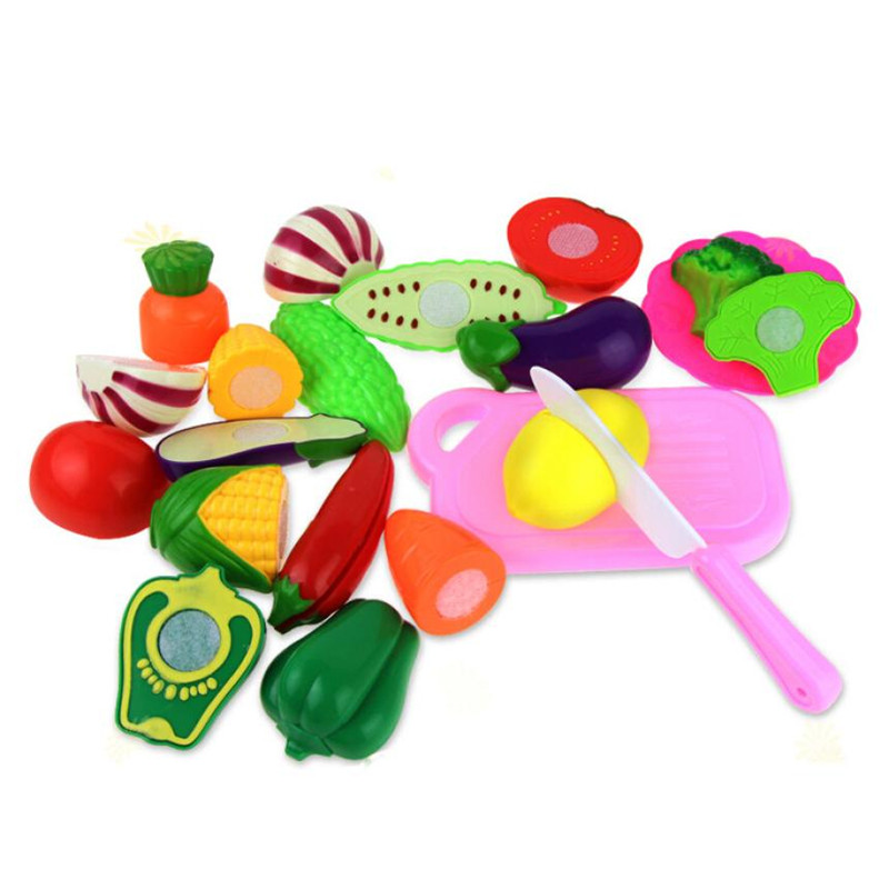 2017 13PC Cutting Fruit Vegetable Pretend Play Children Kid Educational Toy Nov30
