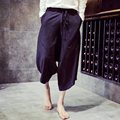 Hombres Punky Sueltos Pantalones de Los Hombres de Moda de verano Retro Discoteca Cantante Harem Ocio Del Todo-Fósforo Pantalones Anchos de La Pierna Pantalones K151