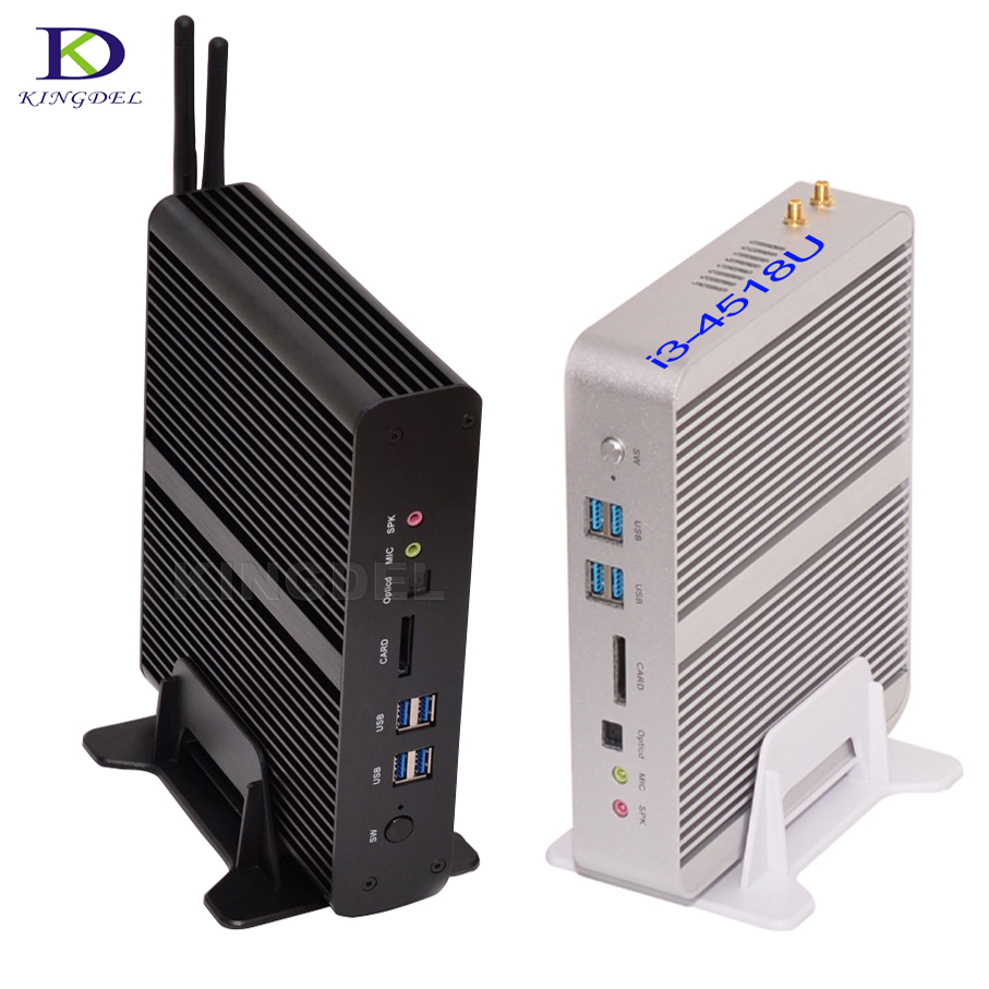 Big Promotion Mini PC i7 5550U HTPC Intel Nuc Fanless Computer Broadwell Ultra HD 4K 2*Gigabit LAN+2*HDMI+SPDIF Nettop PC TV BOX big promotion fanless mini pc intel celeron n2830 small desktop pc usb 3 0 lan wifi 2 hdmi nettop computer htpc windows 7