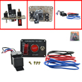 Auto racing 1 Switch Panels red cover toggle switch 12V 20A racing ignition switch panel engine start