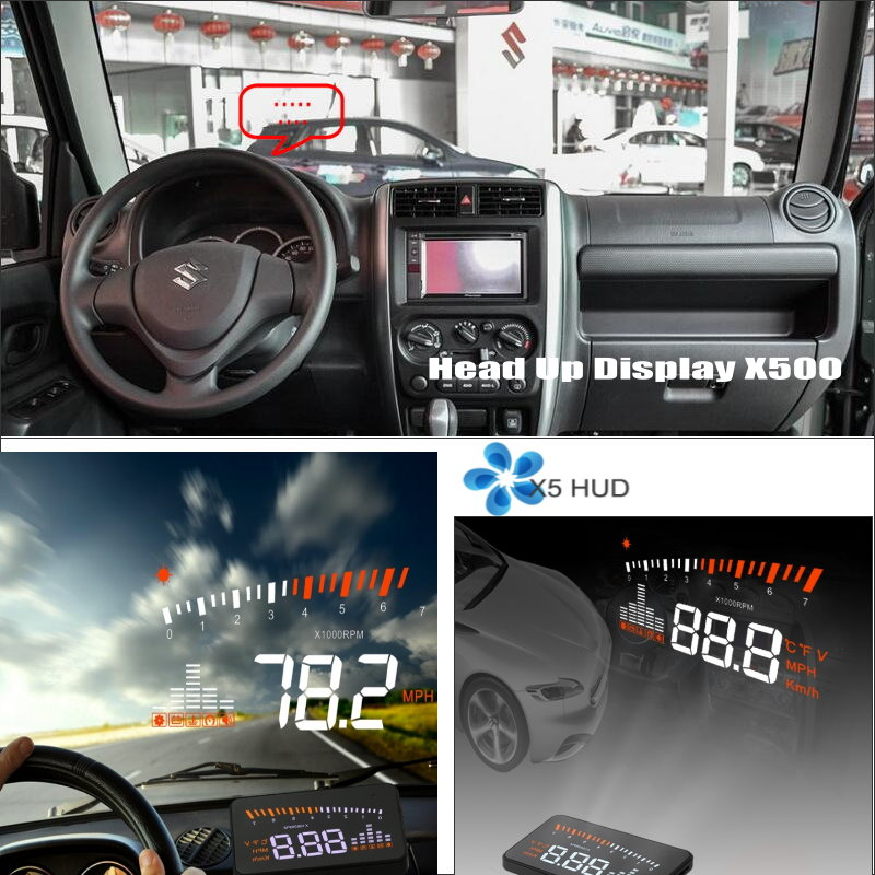 ФОТО Car HUD Head Up Display For Suzuki Jimny JB43 - Refkecting Windshield Screen Safe Driving Screen Projector