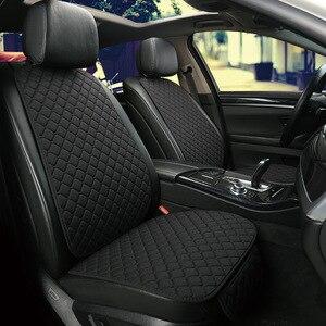 Image 2 - Vlas Auto Seat Cover Protector Voorste Rugleuning Kussen Mat Voor Auto Voor Auto Styling Auto interieur Truck Suv of Van