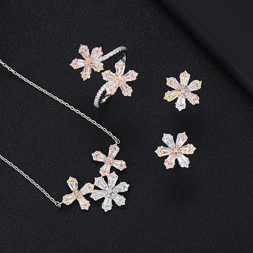 GODKI 3PCS Earring Necklace...