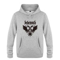 Behemoth Punk Rock Band Sweatshirts Men 2018 Mens Hooded Fleece Pullover Hoodies