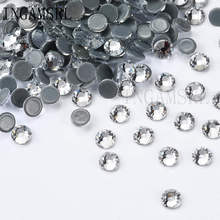 Hot fix Rhinestones Iron On For Clothes High Quality SS12 SS30 DMC Crystal white back Glass Stone 030