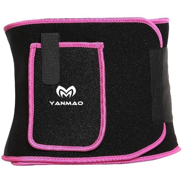 Sport Sweat Belt with Phone Pocket Tummy Stomach Lumbar Sweat Wrap Waist Trimmer Trainer Girdle Slimming Body Shaper Belt 1