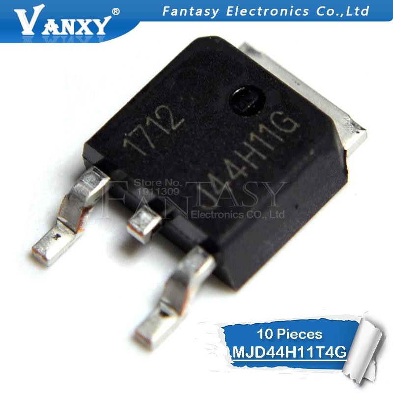 10pcs MJD44H11T4G TO-252 4H11G J44H11G TO252 MJD44 MJD44H11 Transistor