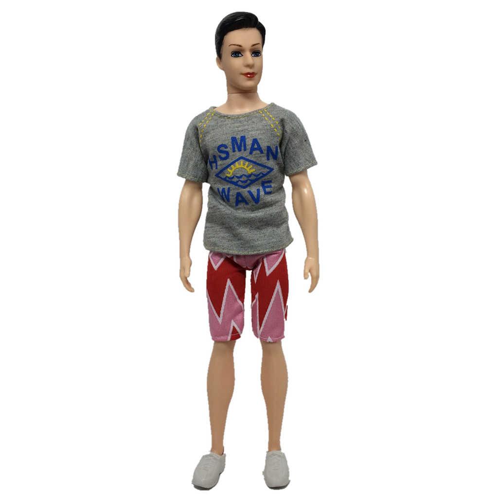 2 個人形サッカーユニフォームの衣装のスーツ 32 センチメートル人形アクセサリーグレー服アクセサリーセット少年人形