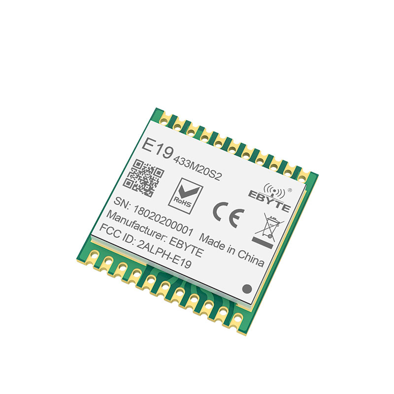 SX1278 LoRa 433MHz Lora Module 20dMm E19-433M20S2 SMD Wireless Transmitting  Wireless  SPI Interface Long Range 100mW Stamp Hole