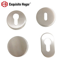Stainless Steel 304 Round Euro Profile Cylinder Escutcheon OB Hole Rose Lever Handle Rosette PC Escutcheon With Screws(China)