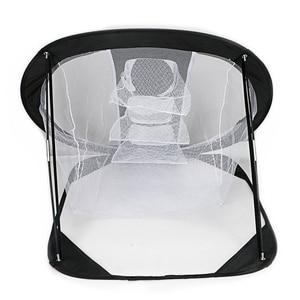Image 5 - 2019 nouveau Golf Pop UP intérieur extérieur déchiquetage tangage Cages tapis pratique facile filet Golf entraînement aides métal + filet