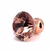 10PCS Creative Design 30mm K9 Crystal Diamond Knobs Furniture drawer cupboard dresser Pull Handle