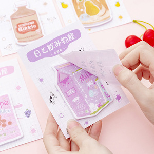 Image 5 - 32 pcs/lot Japanese Drink N Times Memo Pad Cute Self Adhesive Sticky Notes Bookmark Stationery Label Notepad School Supplies