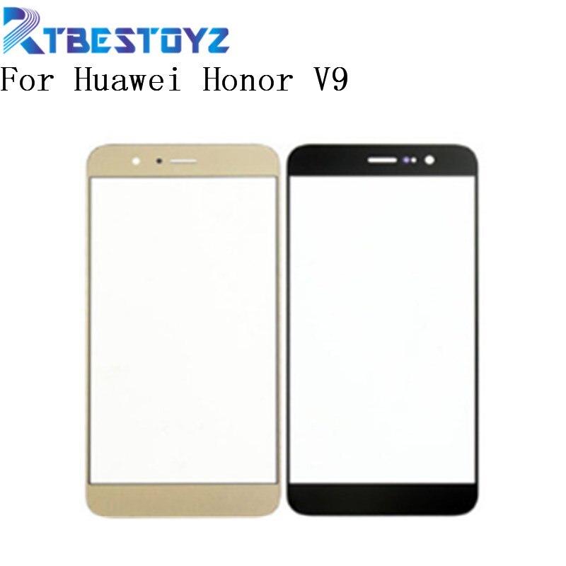 RTBESTOYZ 5,7 ''vidrio exterior frontal para Huawei Honor V9 V 9 Sensor de lente de cristal frontal