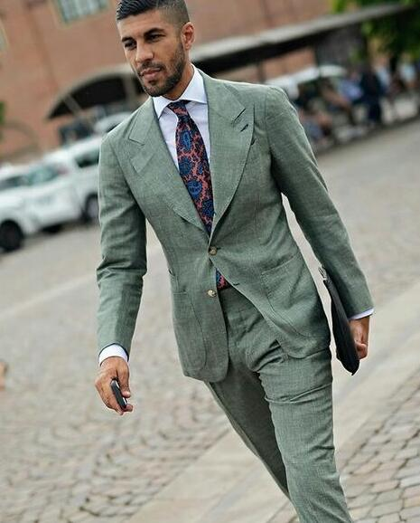 Latest-Coat-Pant-Designs-Green-Linen-Custom-Casual-Street-Style-Slim-Fit-Wedding-Suits-For-Men.jpg_640x640