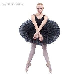 Image 5 - 전문 리허설 투투 어린이 및 성인 발레 댄스 하프 투투 스커트 7 층 뻣뻣한 얇은 명주 그물 Pancak 투투 BLL001