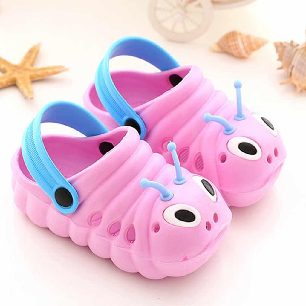ילדי גן נעליים חמוד קריקטורה זחל חוף סנדלי תינוקות קיץ נעלי ילדים באיכות גבוהה נעלי בית להעיף נעלי # XTN