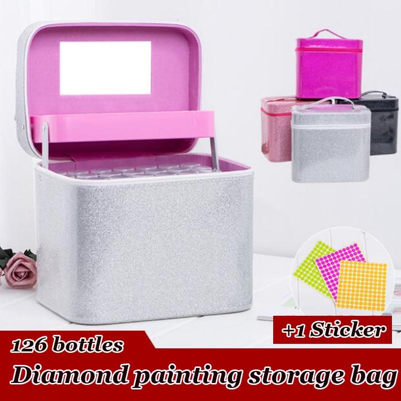 126 бутылки алмазные аксессуары для рисования, прозрачные пластиковые бусины, коробка для хранения для алмазной вышивки, инструменты для выш