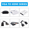 UNSTINCER VGA to HDMI Adapter Female to Male Converter Analog to Digital Video Audio Converter Support 1080P for Xbox PS4 PC