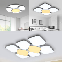 Modern LED Ceiling Light 60W 90W Round 84W 132W Square Ceiling LED Lamp Indoor Home Lighting Decor Bedroom Living Room veihao new modern led ceiling lamp for living room bedroom study indoor acrylic square round art ceiling lamp lighting ac85 260v