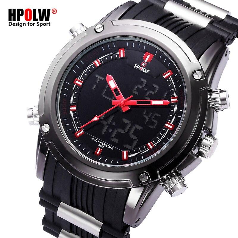 227574c0ed1 HPOLW Novos Esportes Homens Relógios de Luxo Mens Militar Do Exército  Assista Digital LED Eletrônico relógios de Pulso Masculino Relogio masculino  em ...