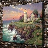 ויקטוריאני H1369 תומאס Kinkade נוף אור, הדפסת HD בד חדר שינה סלון קישוט הבית וול תמונות אמנות ציור