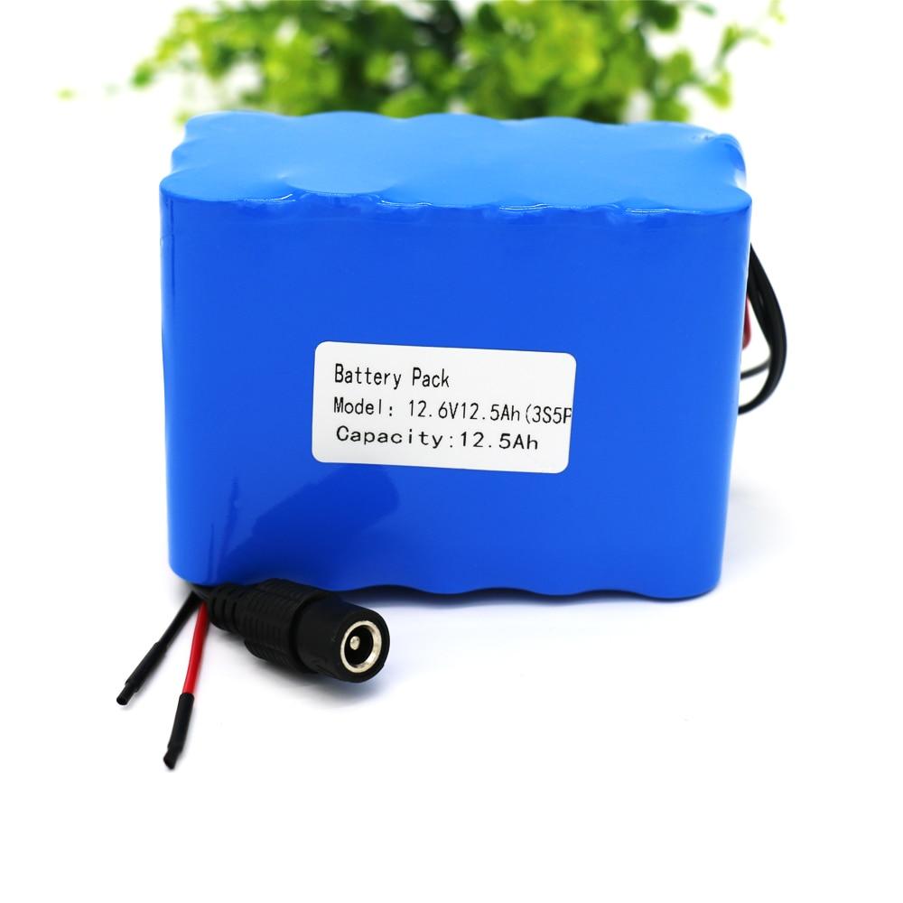 KLUOSI 3S5P 12 V Batterie 12500 mAh 11.1 V/12.6 V batterie au lithium Pack avec 25A Équilibrée BMS pour led lampe D'alimentation De Secours Etc