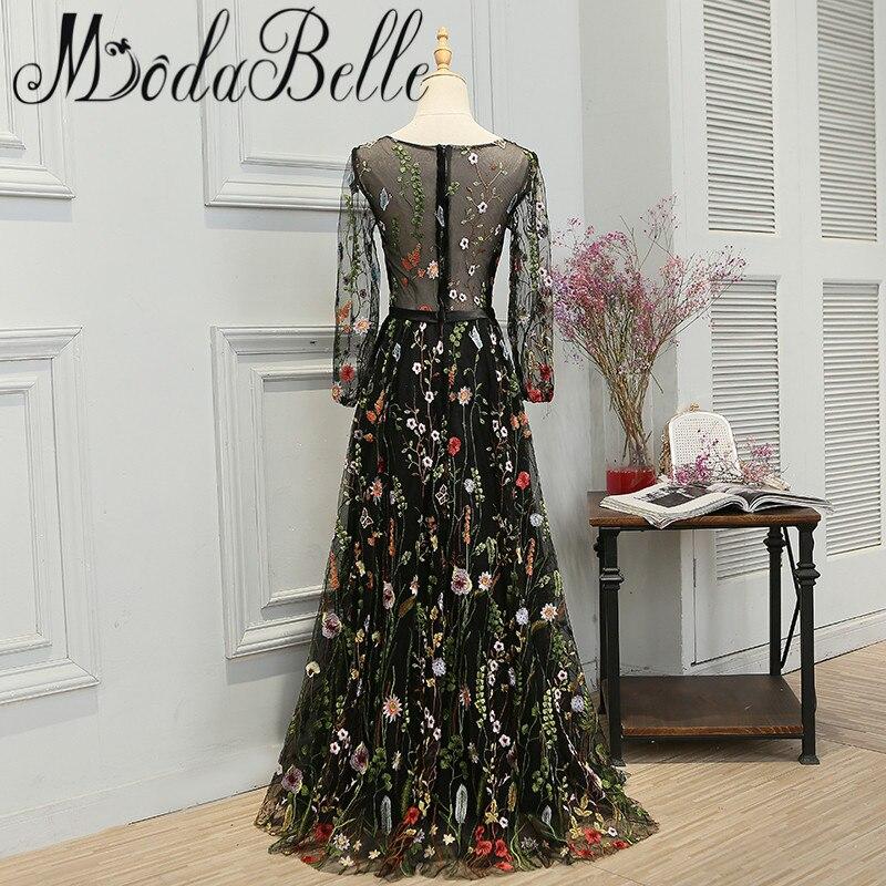 Modabelle Najnoviji stil Crn Duga haljina Prom Promocija 2017 - Haljina za posebne prigode - Foto 2