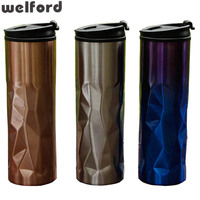 450ml High Quality Double Wall Stainless Steel And PP Water Bottle Car Office Home Thermos Coffee