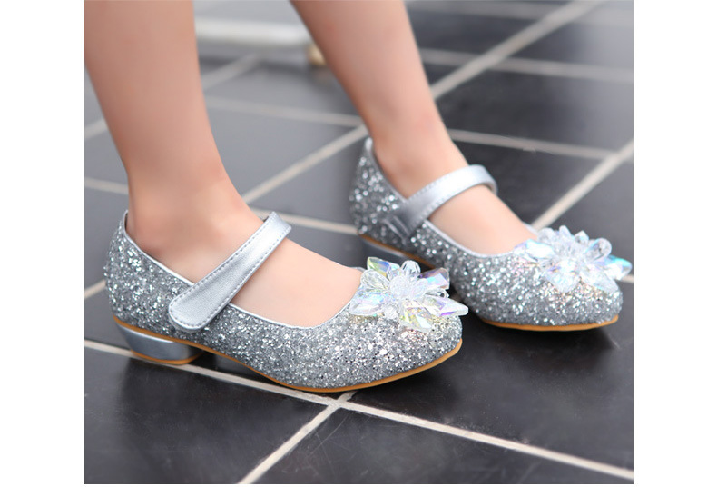 Girls Rhinestone high heels shoes, Childrens Korean style Princess wear, kids Retail party/wedding, 1AS503-16R