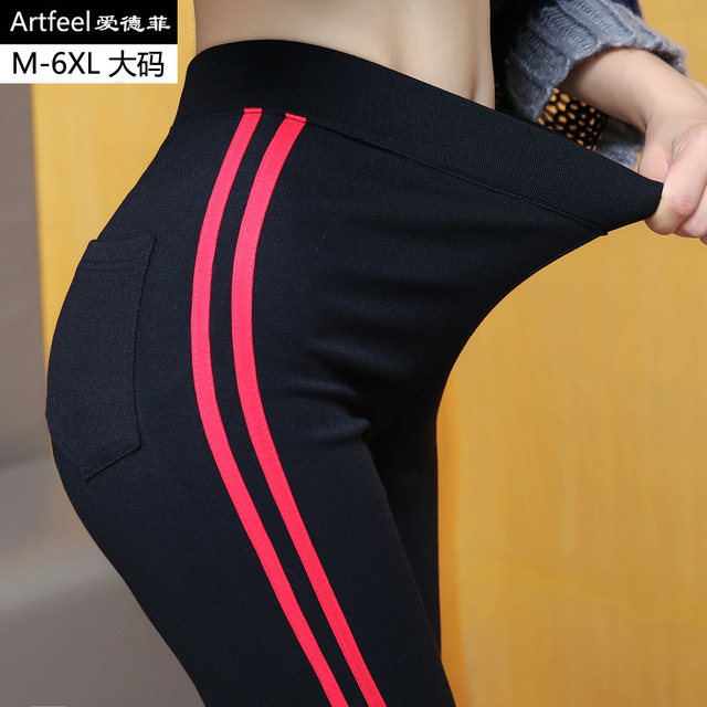 Height Waist Casual Striped Gothic Fitness Legging 8