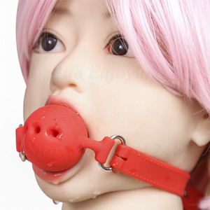 Image 5 - 3 Size Soft Silicone Open Mouth Gag Ball BDSM Bondage Restraints Sex Toy For Adults Slave Open Hole Ventilation Gag For Couples