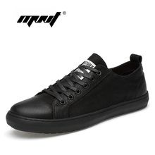 Купить с кэшбэком Genuine Leather Men Shoes Handmade Lace Up Autumn Shoes Sneakers High Quality Men Flats Shoes Zapatillas Hombre Dropshipping