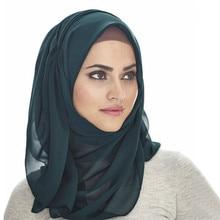 Monochrome pearl chiffon headband high quality scarf women muslim woman hijab