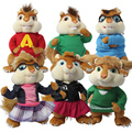 2015 Hot Sale!!plush, Kawaii, Super Cheap Toys Alvin And The Chipmunks 3 Alvin Plush Toys Cotton Material Free Shipping