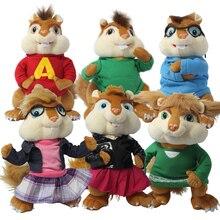 2015 Hot Sale!!plush, Kawaii, Super Cheap Toys Alvin And The Chipmunks 3 Alvin Plush Toys Cotton Material Free Shipping