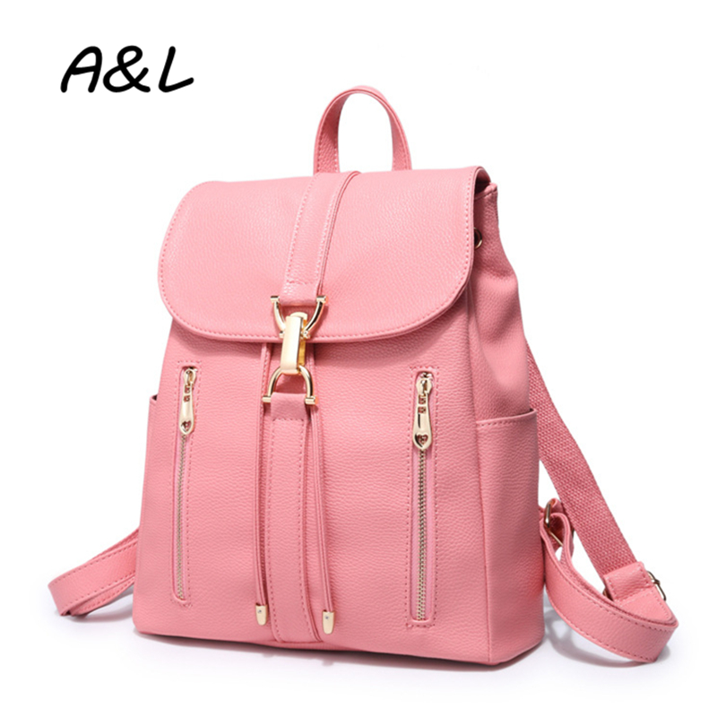 2016 Women Backpack Bag Female High Quality PU Leather School Backpacks for Teenager Girls Lady Travel Bag Mochila Escolar A0183 встраиваемый светильник elektrostandard 863 mr16 sb бронза 4607138147254