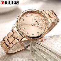 Relogio Feminino 2018 Curren Watches Women Brand Luxury Gold Quartz Watch Fashion Ladies Dress Elegant Wristwatch