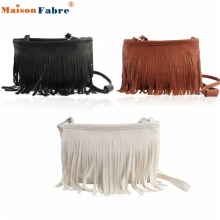 High quality Hot Tassel Shoulder Messenger Clutch Baguette Handbag Women Satchel