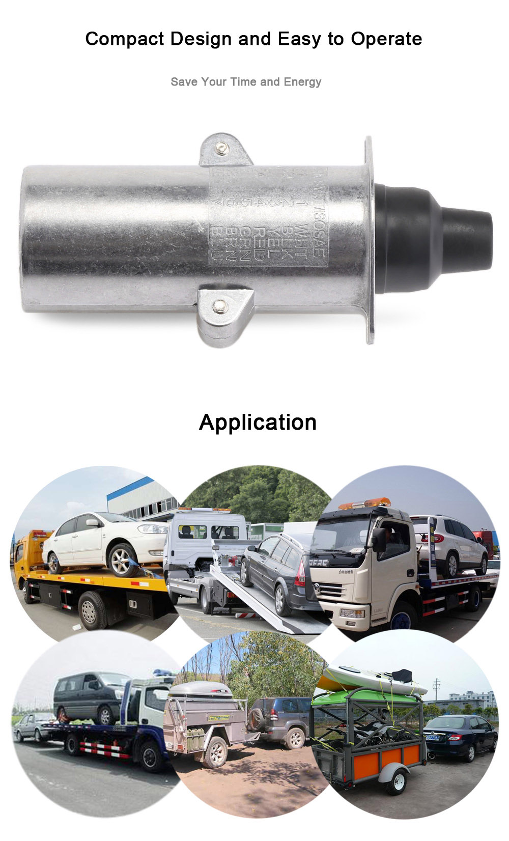 2016 New 7 Pin Trailer Plug Heavy Duty Round Pole Wiring Connector 24v Towbar Towing European Vehicles N Type In Cables Adapters Commercial Motor Aeproductgetsubject