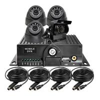 Free Shipping New 4CH SD HD 720P AHD Car MDVR CCTV Surveillance System Car Recorder DVR