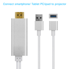 HDMI cable ,Connecting BYINTEK Projector Playing Game for Iphone Ipad Smartphone
