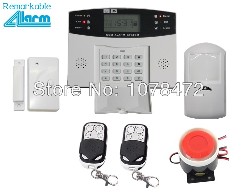Android & Ios App Gsm Alarm System Mit Lcd-display, Drahtlose Verdrahtete Auto-dial Gsm 850/900/1800/1900 Mhz Home Security Alarm System