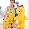 Diferente altura de Alta Calidad de color amarillo y precioso Garfield juguete de peluche como regalo para niños y niñas envío gratis