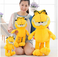 Different height High Quality  yellow and lovely Garfield toy plush doll as a gift for boys and girls free shipping
