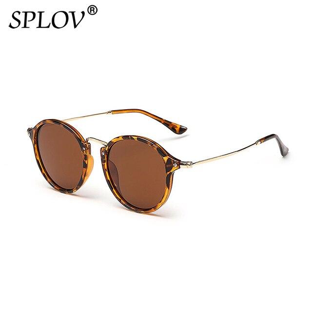 Gafas de sol redondas con revestimiento Retro Para hombre y mujer, anteojos de sol de marca de diseñador, gafas espejadas Vintage, novedad 5