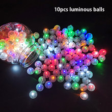 10Pcs/lot round mini led light Balloon Lights luminous balls party led Flash Lamp For Christmas halloween Wedding Decoration(China)
