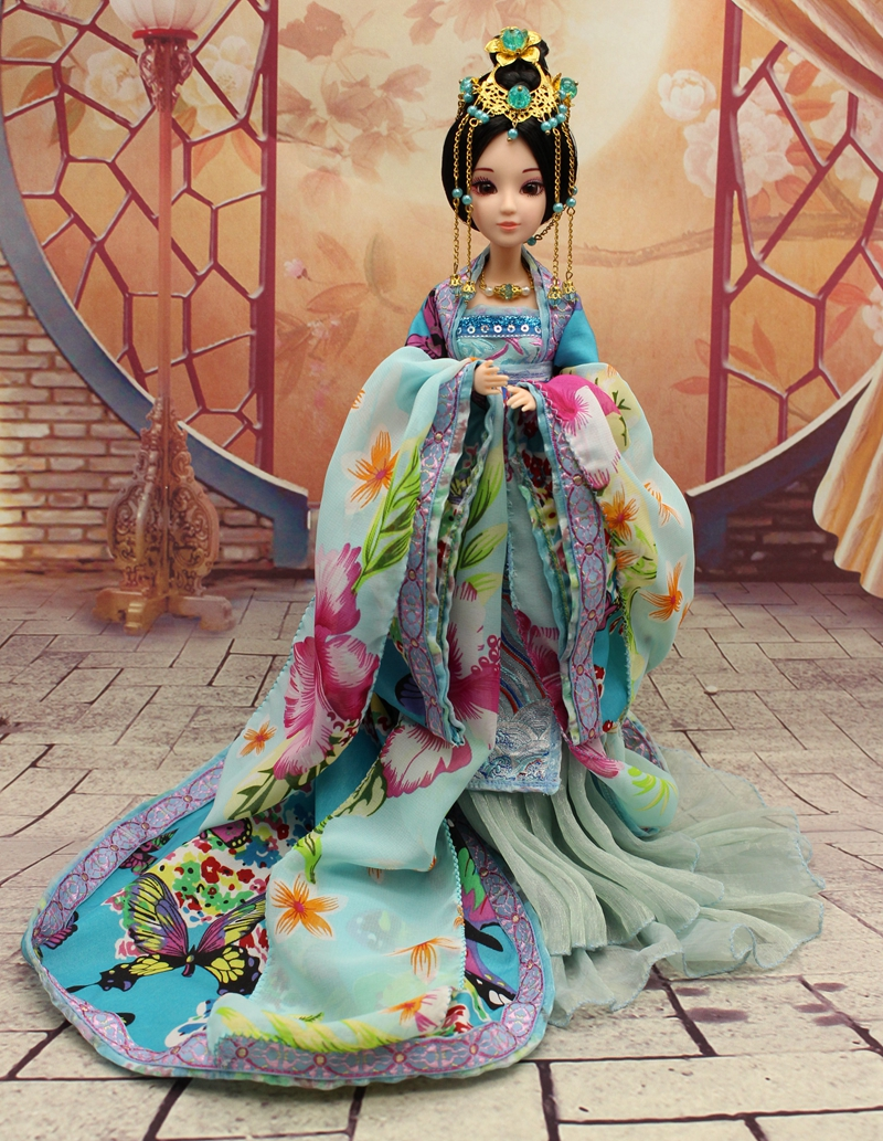 30cm Handmade Chinese Ancient Costume Doll 12 Jointed Doll Bjd 1/6 Princess Dolls Girls Toys Girlfriend Birthday Valentines Gift tang dynasty shangguan wan er 12jointed doll 31cm high end handmade chinese costume dolls limited collection bjd 1 6 moveable