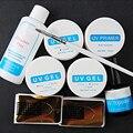 Nail Art Manicure Tools UV Set Kit Top Coat Nail Brush Pink White Clear Transparent UV Gel Builder Nail Manicure Extension